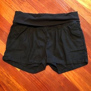 Black maternity shorts (and free pink PJ shorts)